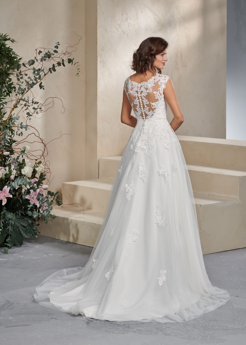 Weddingdress Affezione Blue - Back