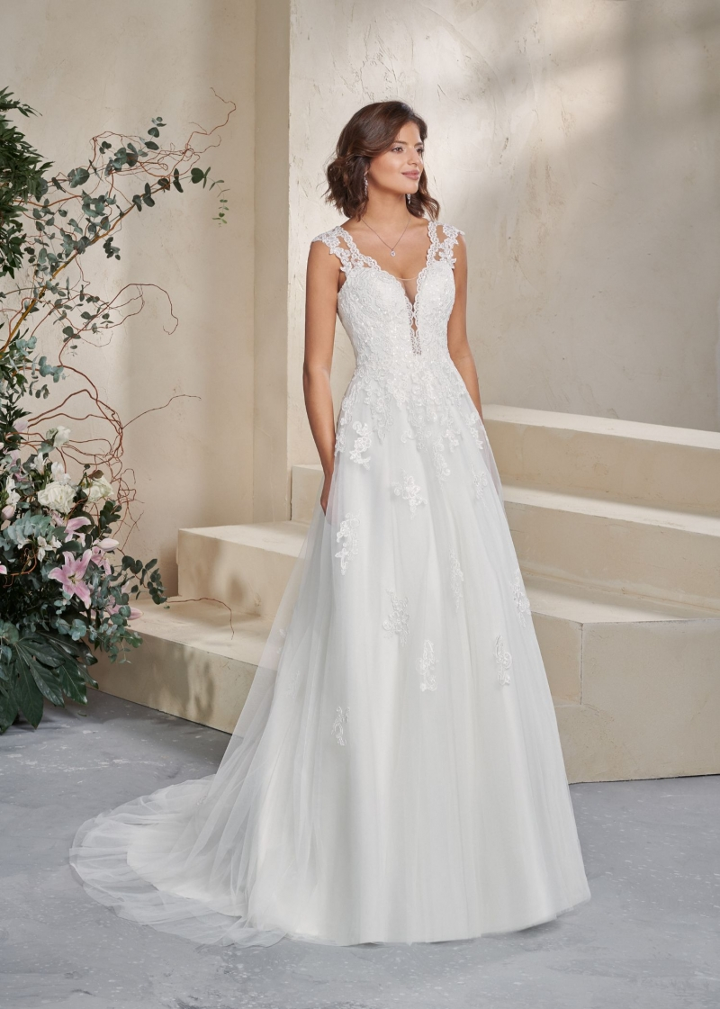 Weddingdress Affezione Blue - Front